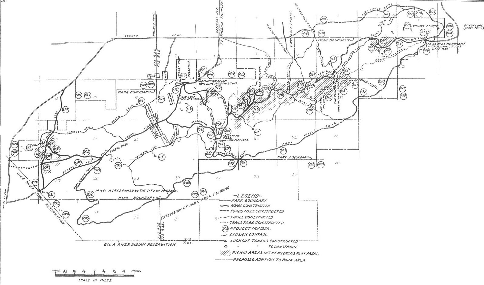South mountain maps through time mtbikeaz south mountain in 1936 sciox Choice Image