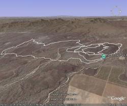 McDowell Race Loops in Google Earth