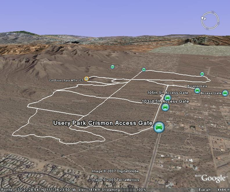 View usery mountain regional park in a larger map
