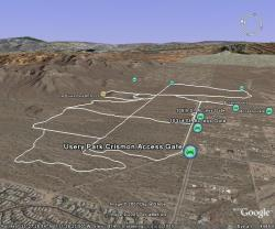 Usery Park Trails in Google Earth