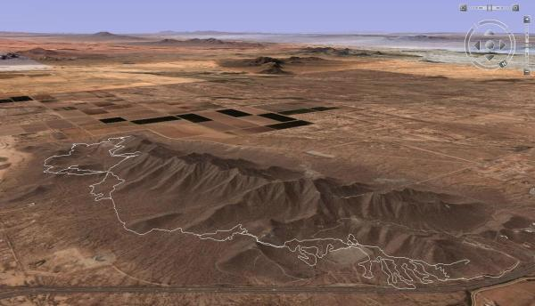 Casa Grande Mountain Trails in Google Earth