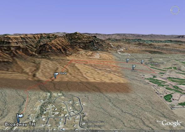 Lost Goldmine West in Google Earth