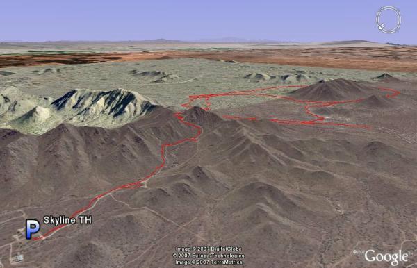 Santan Mountain Park Google Earth View